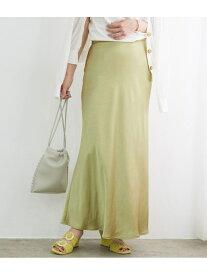 ADAM ET ROPE' サテンマーメイドスカート アダムエロペ スカート スカートその他 グリーン ホワイト ブラウン【送料無料】