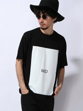 "【U】スクープ ビッグTシャツ""MID"""