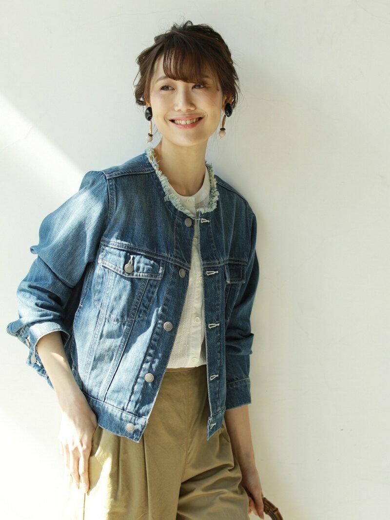 coen USAコットンデニムノーカラーGジャン コーエン コート/ジャケット【送料無料】