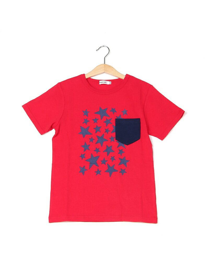 SLAP SLIP 天竺星プリントポケット配色Tシャツ ベベ オンライン ストア カットソー