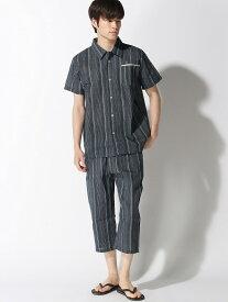新主己 シジラパジャマ(衿付き) アラスコ ビジネス/フォーマル 着物/浴衣 ネイビー ブラック