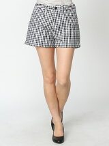 [W]GINGHAM CHECK SHORT PANTS