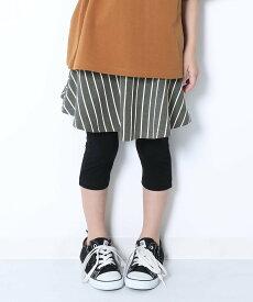 devirock 6分丈総柄スカッツ 女の子 ベビー ボトムス スカート デビロックストア 子供服 キッズ デビロック スカート フレアスカート ブラック ネイビー