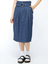 【Dukkah】(L)リングベルトタイトスカート