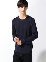 (M)畔編みカラーニット・セーター