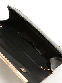 合皮シンプル大きめクラッチバッグ R