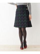 Traditional Weatherwear キルティングチェックスカート