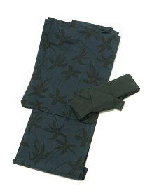 【SALE/13%OFF】ALASKO プリント入り浴衣 アラスコ ビジネス/フォーマル 着物/浴衣 ネイビー ブラック
