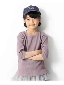 子供服 キッズ ワッフル7分袖Tシャツ 男の子 女の子 トップス 長袖 長そで 韓国子供服 デビロック カットソー