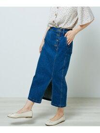 【SALE/50%OFF】Ray Cassin ストレッチデニムタイトスカート レイカズン スカート 台形スカート/コクーンスカート ブルー ネイビー