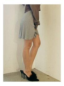 GYDA フレアニットスカートライクショーパン ジェイダ スカート フレアスカート グレー ブラック レッド【送料無料】