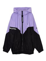 V LINE HOODED BLOUSON