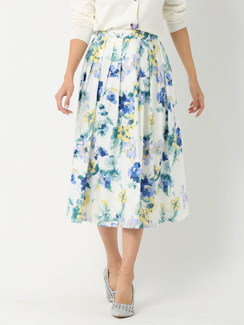 【SALE/32%OFF】MEW'S REFINED CLOTHES タイプライター花柄ミモレスカート ミューズ リファインド クローズ スカート【RBA_S】【RBA_E】【送料無料】