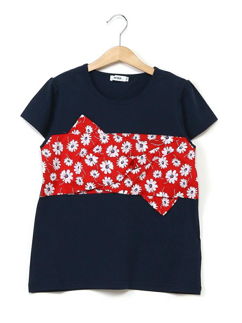 SLAP SLIP SLAP SLIP/ブロード花柄ビスチェTシャツ ベベ オンライン ストア カットソー