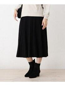 grove 【WEB限定サイズあり】モチモチガーターストライプニットスカート グローブ スカート スカートその他 ブラック ブラウン レッド ブルー【送料無料】