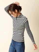 【秋の新作】ボーダータートルネックセーター【CLUEL10月号掲載】