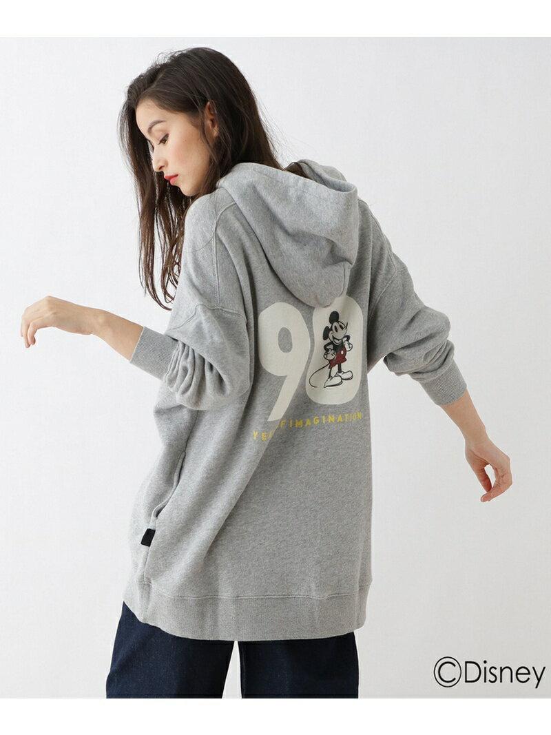 【SALE/50%OFF】バックプリント ワイドロングパーカー(ミッキーマウス) オゾック カットソー【RBA_S】【RBA_E】【送料無料】