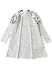 子供服 キッズ ガールズデザインワンピース バックリボン 女の子 トップス ワンピース 韓国子供服 デビロック ワンピース