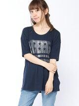 (W)Hilfiger Denim/プリントTシャツ
