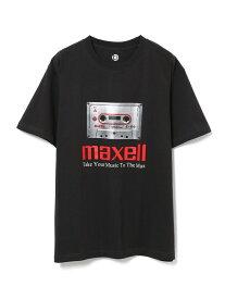 【SALE/60%OFF】ADAM ET ROPE' 【Maxell × 10C】TEE アダムエロペ カットソー カットソーその他 ブラック ホワイト