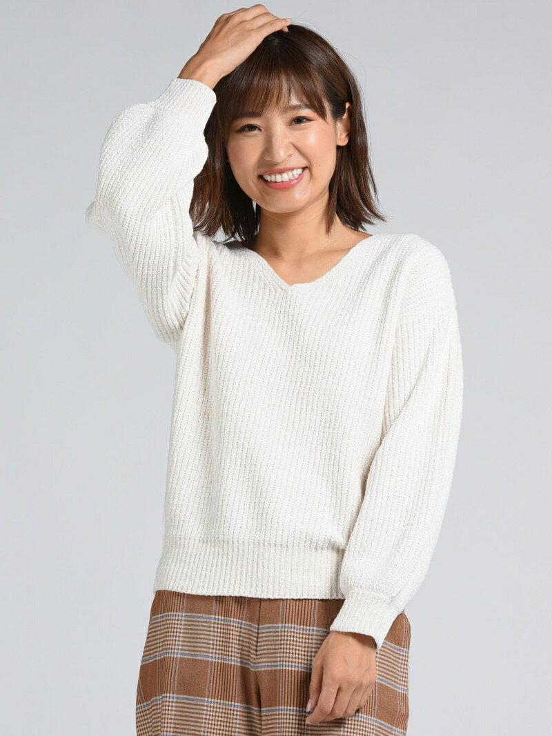MAYSON GREY ラメベロアモールVネックプルオーバー メイソングレイ ニット【送料無料】