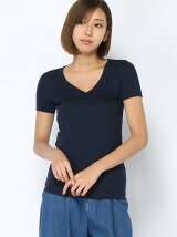 (L)Vネック半袖Tシャツ
