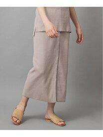 【SALE/60%OFF】Munich コットンリブジャージ2wayスカート【セットアップ可】 ミューニック スカート ロングスカート ベージュ ブルー ホワイト ネイビー【送料無料】