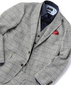 【SALE/50%OFF】MEN'S BIGI ON/OFF兼用カラミ織りストレッチジャケット【ウォッシャブル】 メンズ ビギ コート/ジャケット テーラードジャケット ネイビー グレー【送料無料】