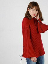 HL LACE UP SLEEVE SWEATER