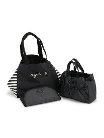 agnes b. ENFANT ENFANT/(K)GL11 E BAG マザーズバッグ アニエスベー マタニティー/ベビー ベビー用品 ブラック【送料無料】
