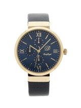クロノグラフテイストレザー調ベルト腕時計