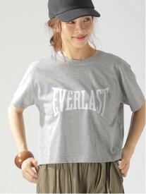 【SALE/30%OFF】EVERLAS (W)EVERLAST/ロゴT ベイフロー カットソー Tシャツ グレー ホワイト
