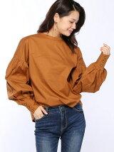 (W)ブロード袖ボリュームシャツ