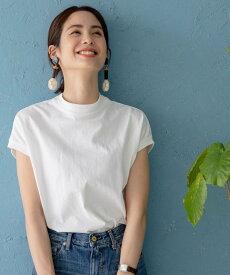 coen 【WEB限定復刻】リピT・USAコットンハイネックTシャツ# コーエン カットソー Tシャツ ホワイト ブラック グレー ベージュ ブラウン イエロー カーキ ブルー ネイビー パープル