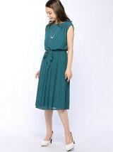 ジョーゼットプリーツドレス
