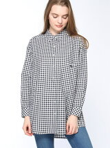 (W)オリジナル ギンガムチェック シャツ