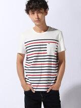 (M)Hilfiger Denim/ボーダーポケットTシャツ