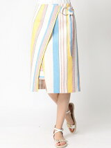 〜PHILEA〜 マルチボーダーラップ風デザインスカート