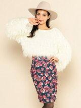 フラワープリントタイトスカート