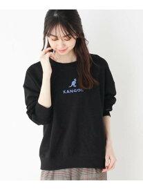 SHOO・LA・RUE 【KANGOL】刺繍ロゴプルオーバー シューラルー カットソー パーカー ブラック ベージュ レッド