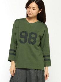 【SALE/60%OFF】H.A.K 98モチーフプリント ナンバーTシャツ(7分袖) ハッカ カットソー Tシャツ グリーン ブラック レッド【送料無料】
