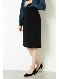 NATURAL BEAUTY BASIC [洗える]バックルベルトストレートスカート ナチュラルビューティベーシック スカート スカートその他 ブラック ベージュ レッド【送料無料】