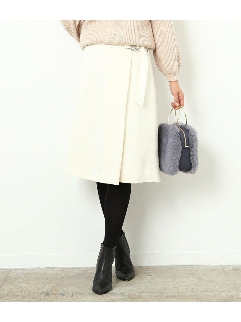 ROPE' フェイクスエードラップスカート ロペ【送料無料】