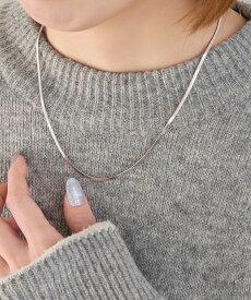 Phoebe Phoebe/(W)スタイリッシュスネークチェーンネックレス シルバー ジュエルアディクト アクセサリー