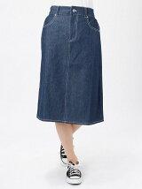 Aラインミディ丈スカート