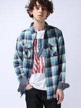ロングスリーブコットンチェックシャツ