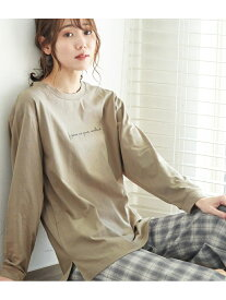 【SALE/10%OFF】ROPE' PICNIC ロゴロングTシャツ ロペピクニック カットソー カットソーその他 グレー ブラック ホワイト