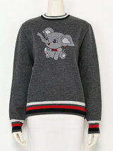 ANIMAL JACQUARD CREW NECK TUMPER