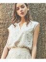 【SALE/30%OFF】Noela シアー刺繍レースブラウス ノエラ シャツ/ブラウス ノースリーブ/キャミソールシャツ ホワイト…