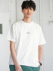 【SALE/30%OFF】coen コーエンロゴ刺繍Tシャツ コーエン カットソー Tシャツ ホワイト ブラック